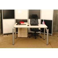 Комплект стол эргономичный, тумба приставная б\у, КОМПЛЕКТ-1003УМД