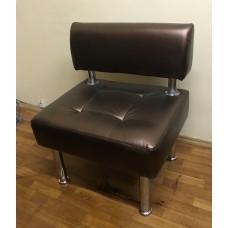 Кресло для посетителей кож.зам бронза (новое)