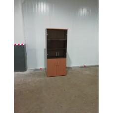 Шкаф стеллаж 80х40х190 ольха/серый б/у