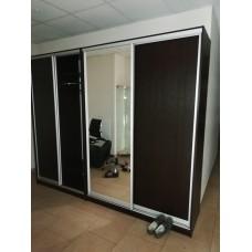 Шкаф-купе Вита 120x60x230, Фасад лдсп/Зеркало, Шкаф-Г009
