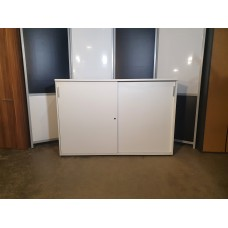Шкаф стеллаж офисный купе белый 165х42х112см. Шкаф-СН004