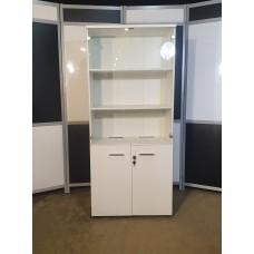 Шкаф стеллаж офисный белый. Шкаф-СС006