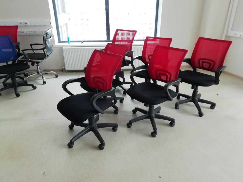 Кресло офисное Chairman 696 б/у, Кресло-КК007 красный