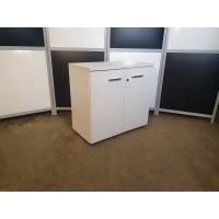 Шкаф низкий белый 80х42х76см. Тумба-ОТ003